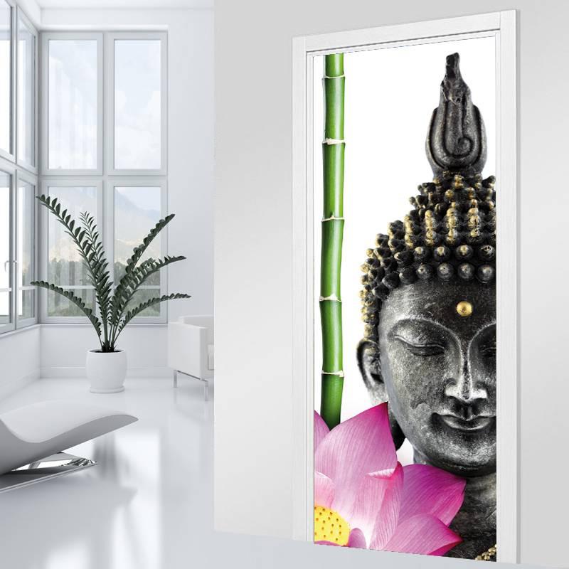 stickers porte bouddha zen des prix 50 moins cher qu 39 en magasin. Black Bedroom Furniture Sets. Home Design Ideas