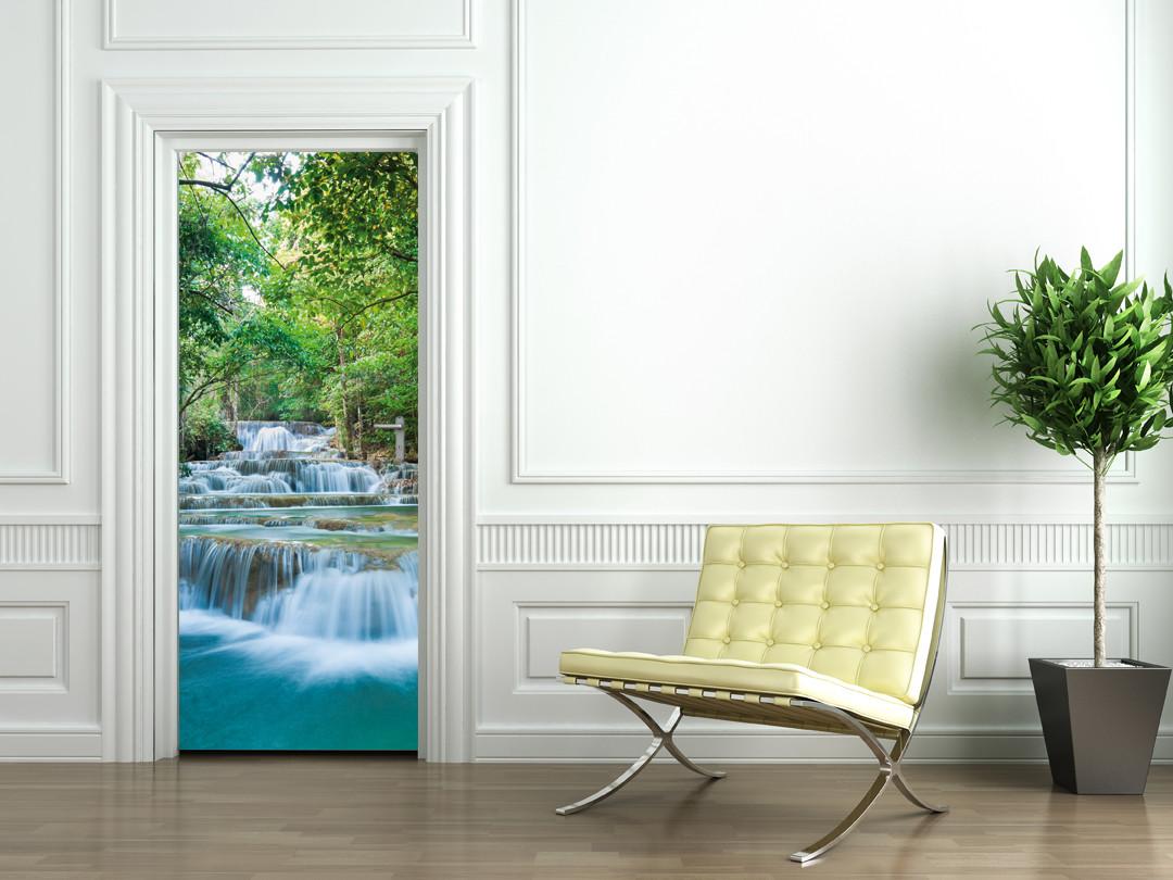 stickers porte cascade des prix 50 moins cher qu 39 en magasin. Black Bedroom Furniture Sets. Home Design Ideas