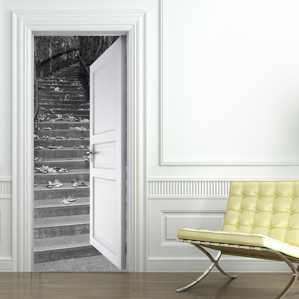 stickers porte escalier des prix 50 moins cher qu 39 en magasin. Black Bedroom Furniture Sets. Home Design Ideas