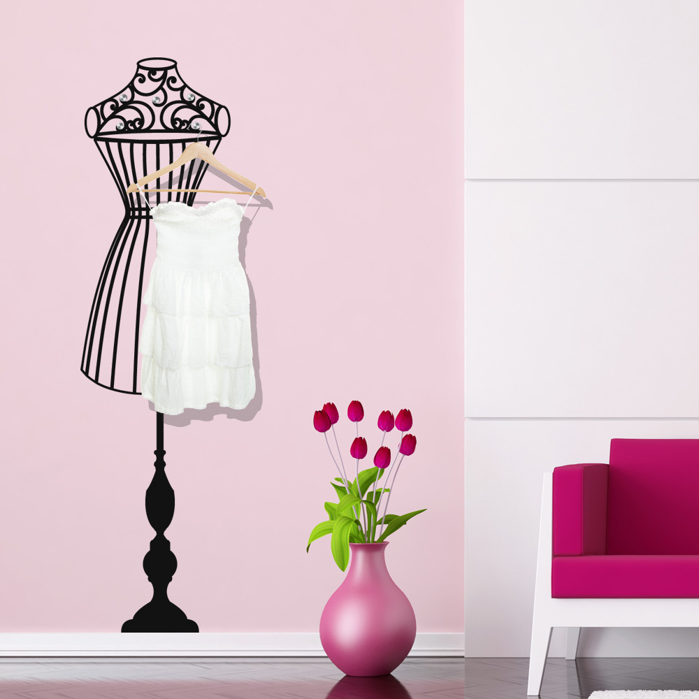 stickers porte manteau buste des prix 50 moins cher qu 39 en magasin. Black Bedroom Furniture Sets. Home Design Ideas