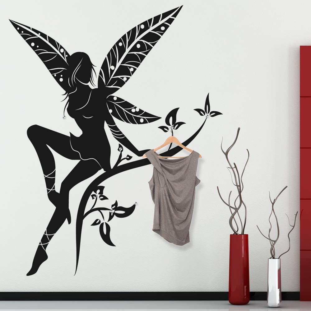 stickers porte manteau f e des prix 50 moins cher qu 39 en magasin. Black Bedroom Furniture Sets. Home Design Ideas