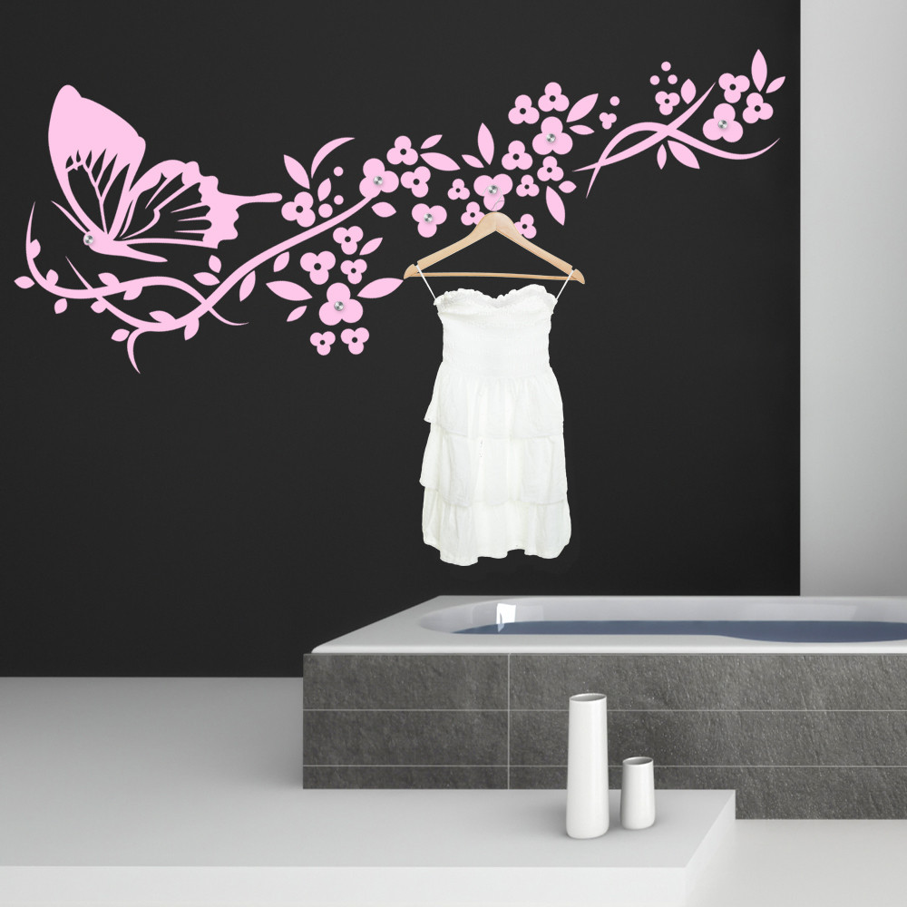 stickers porte manteau papillon des prix 50 moins cher qu 39 en magasin. Black Bedroom Furniture Sets. Home Design Ideas