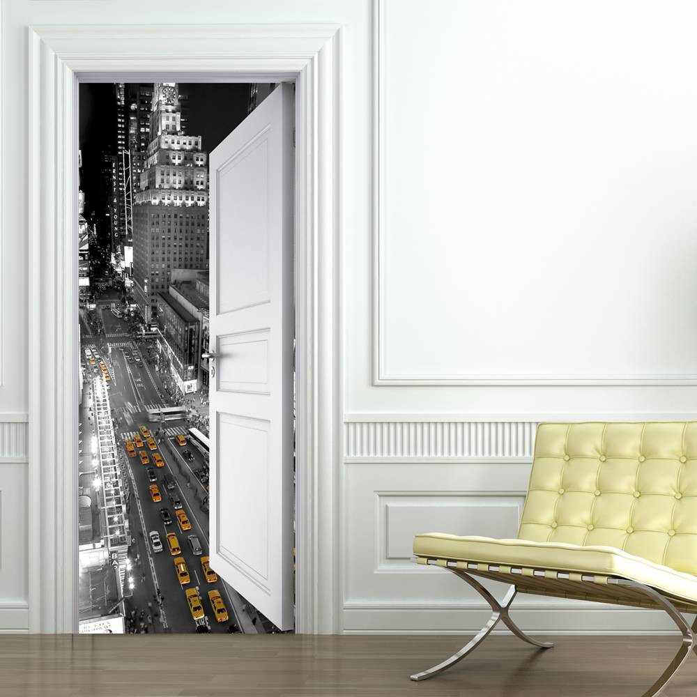 stickers porte new york des prix 50 moins cher qu 39 en magasin. Black Bedroom Furniture Sets. Home Design Ideas