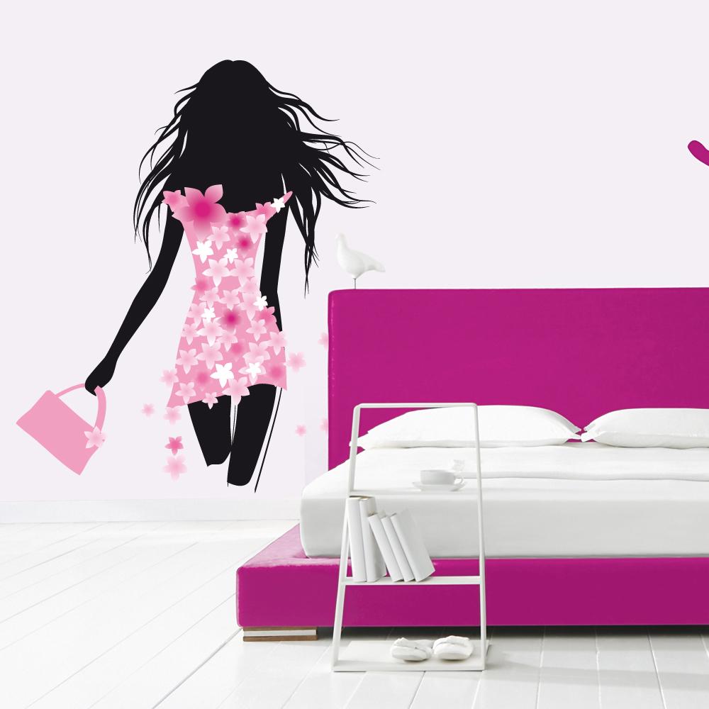 stickers silhouette femme des prix 50 moins cher qu 39 en magasin. Black Bedroom Furniture Sets. Home Design Ideas