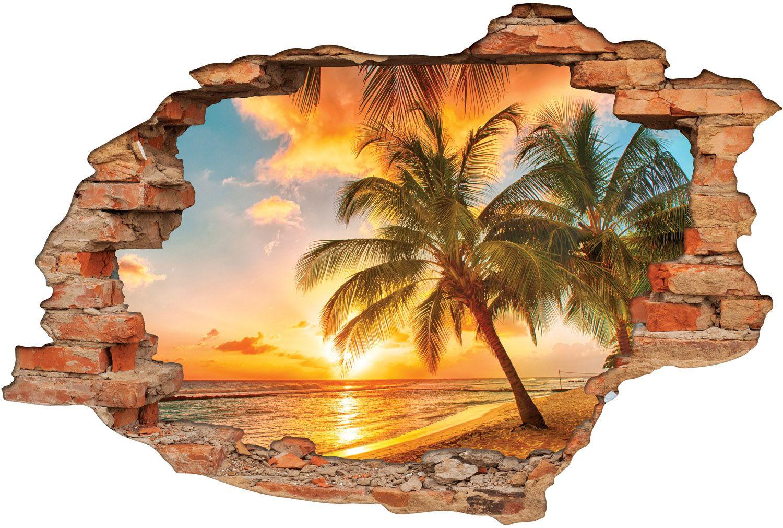 Stickers Trompe l oeil 3D Tahiti Des prix moins cher