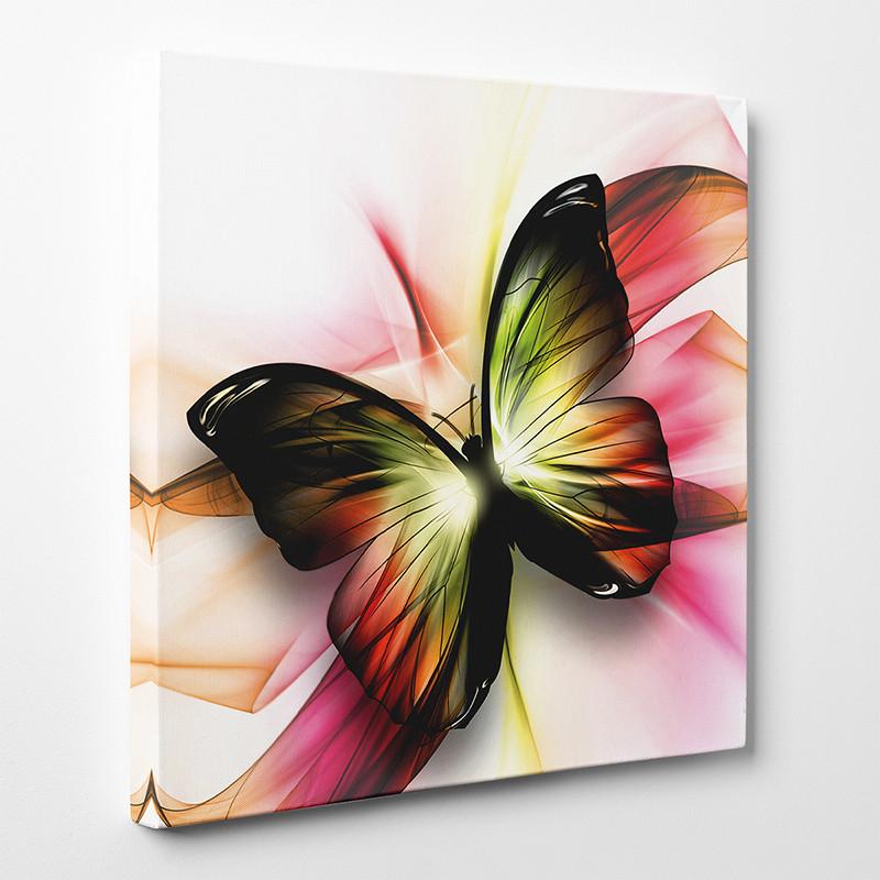 tableau toile papillon abstrait  des prix  moins
