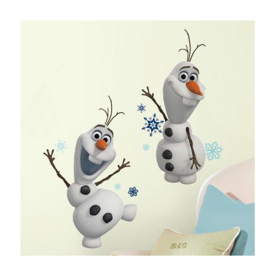 2 Stickers Géant Olaf La Reine des Neiges Disney
