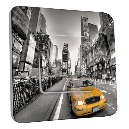 Interrupteur Décoré Poussoir -  New York Taxi 01