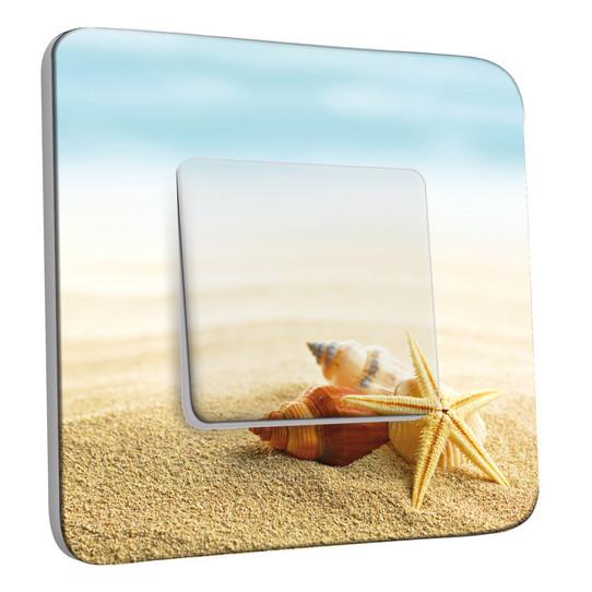 Interrupteur Décoré Simple Va et Vient - Coquillages Etoile de Mer 11