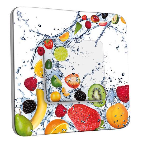 Interrupteur Décoré Simple Va et Vient - Fruits Design