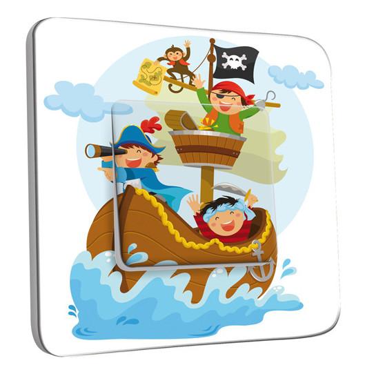 Interrupteur Décoré Simple Va et Vient - Pirates Enfant 1