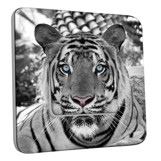 Interrupteur Décoré Simple Va et Vient - Tigre Black&White