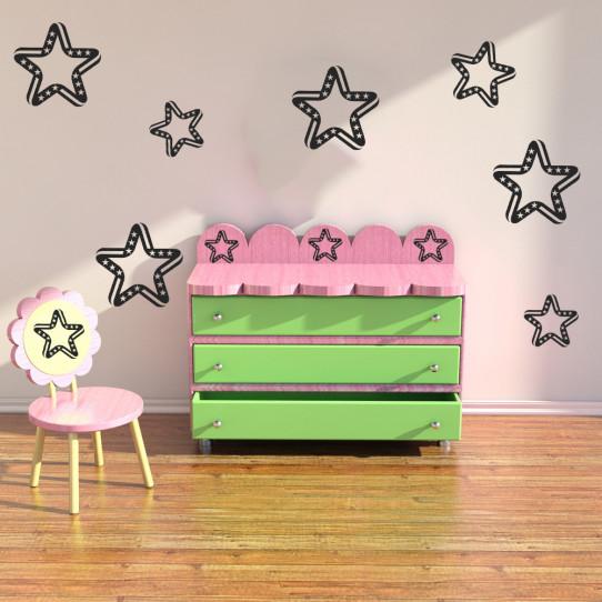 Kit 6 stickers étoiles