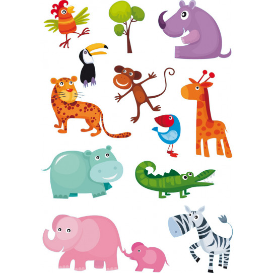 kit Stickers 11 animaux