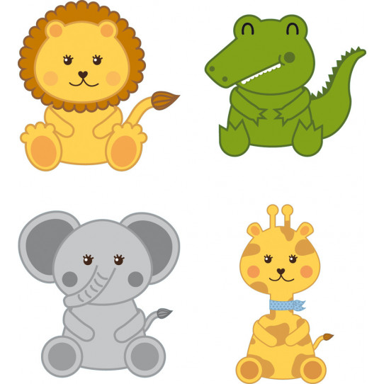 kit Stickers 4 animaux