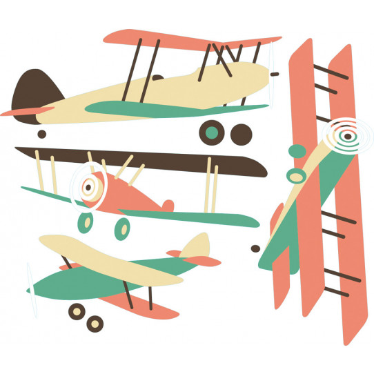 Kit stickers 4 avions
