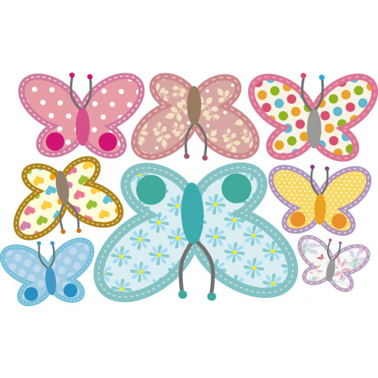 Kit stickers 8 papillons