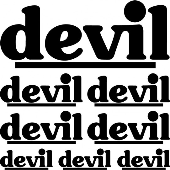 Kit stickers devil
