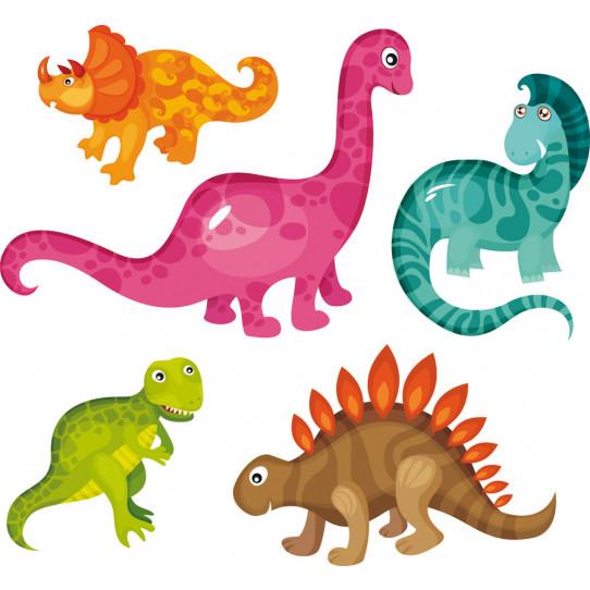Kit stickers dinosaures