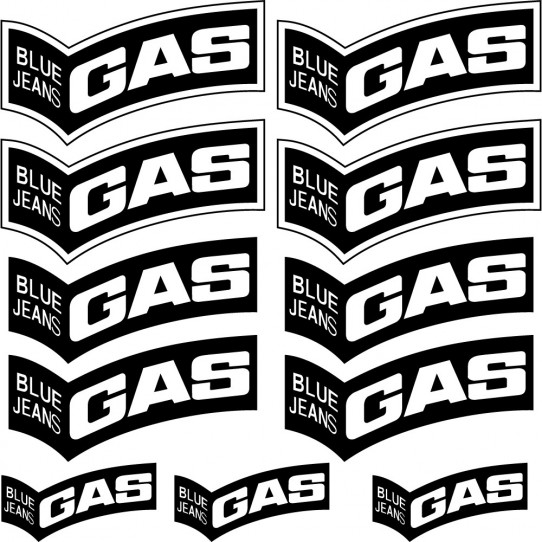 Kit stickers gas