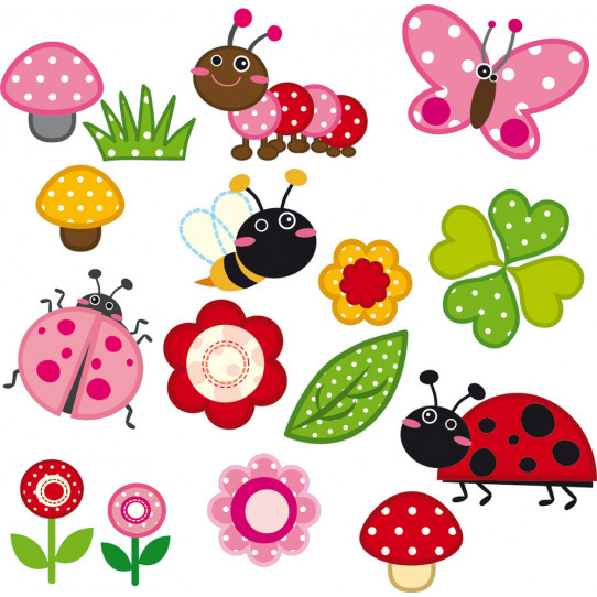 kit Stickers insectes