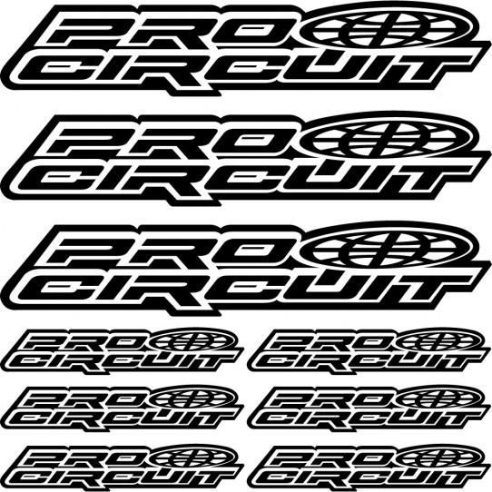 Kit stickers pro circuit