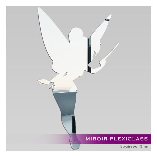 Miroir Plexiglass Acrylique Fée Clochette