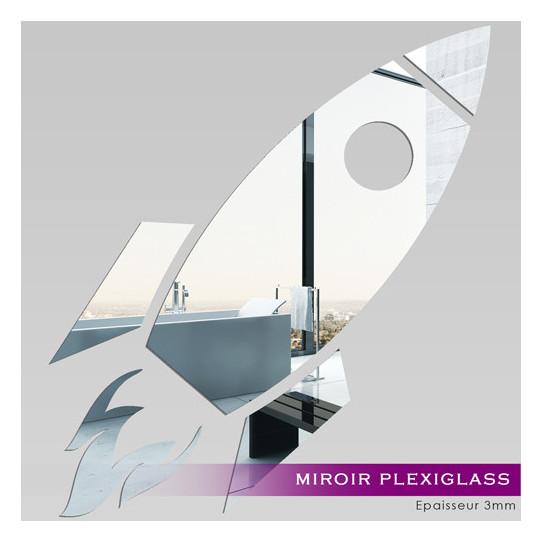 Miroir Plexiglass Acrylique - Fusée Spaciale