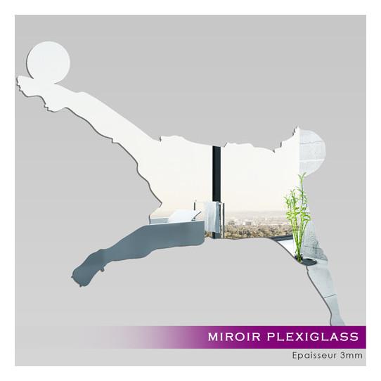 Miroir Plexiglass Acrylique - Joueur de Foot