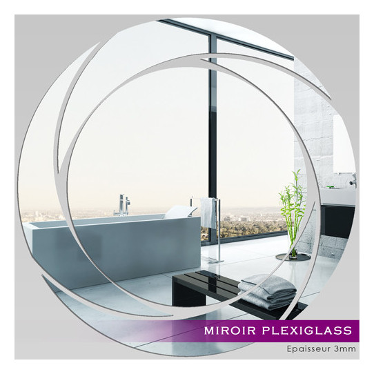 Miroir Plexiglass Acrylique - Spirales Design 2
