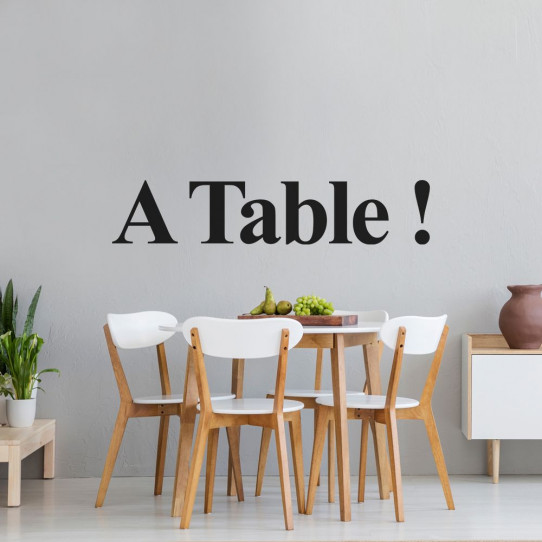 Stickers A Table