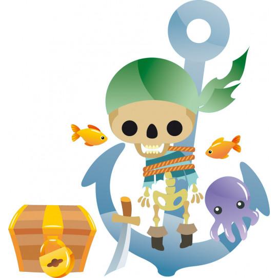 Stickers ancre pirate