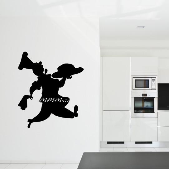 Stickers ardoise chef cuisine