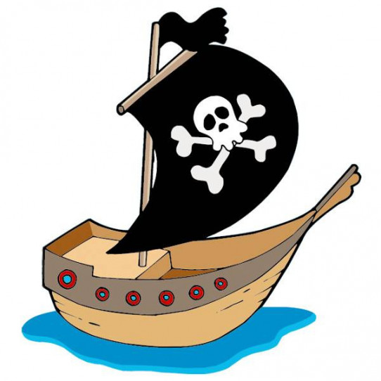 Stickers Bateau Pirate