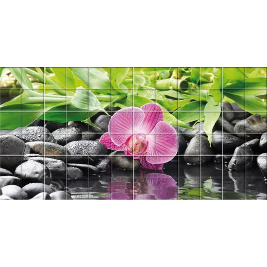 Stickers carrelage fleur