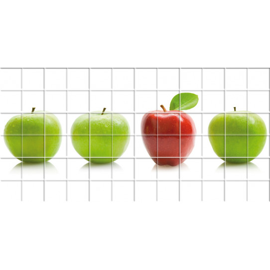 Stickers carrelage pomme