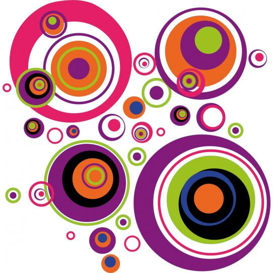 Stickers cercle multicolore