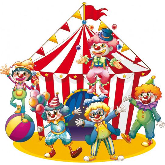 Stickers chapiteau et clowns