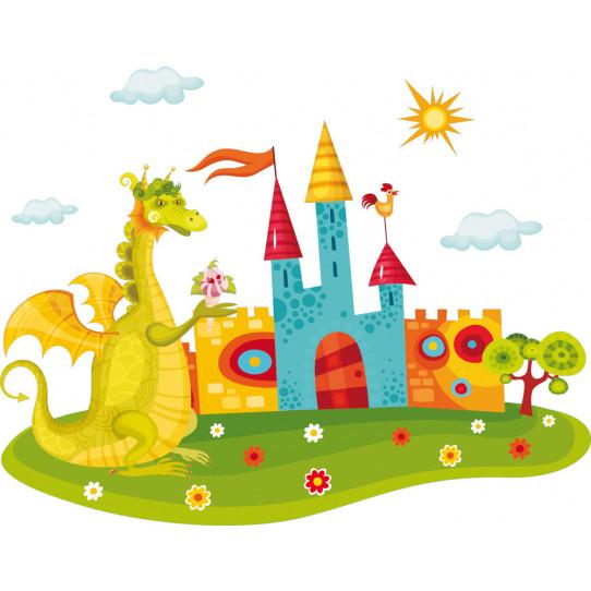 Stickers château dragon