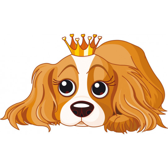 Stickers chienne princesse