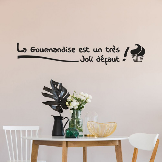 Stickers citation Gourmandise