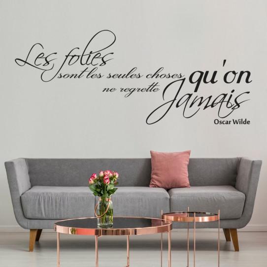Stickers citation Oscar Wilde