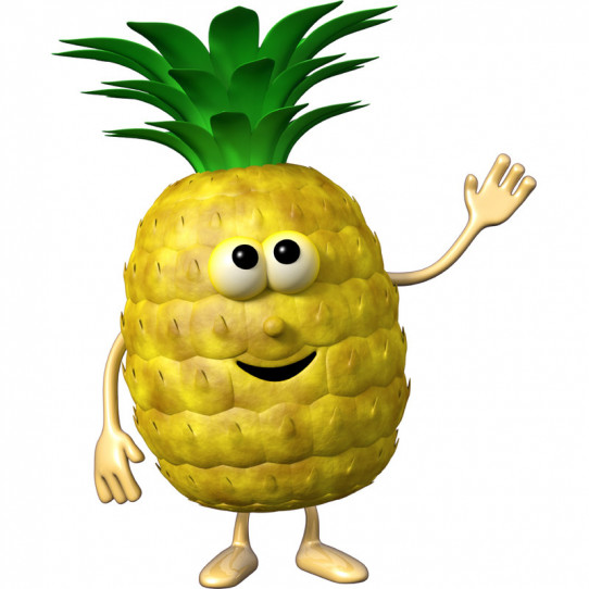 Stickers effet 3D- Ananas 2
