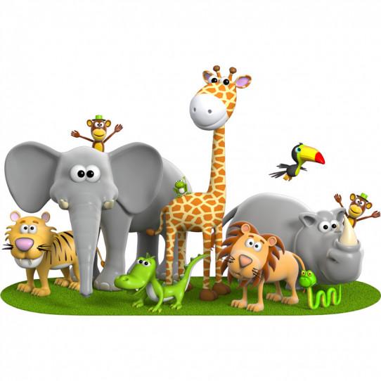 Stickers effet 3D- Animaux Savanne