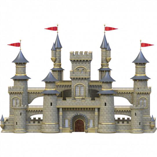 Stickers effet 3D- Château fort