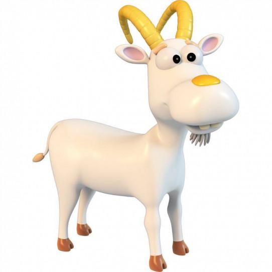 Stickers effet 3D- Chèvre