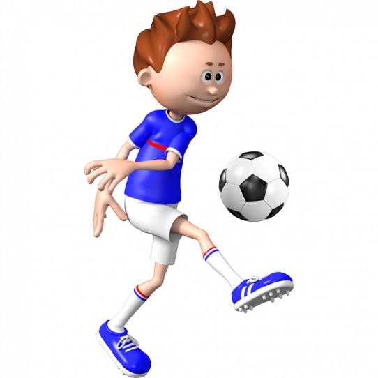 Stickers effet 3D - Footballeur