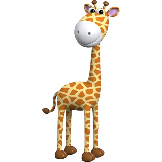 Stickers effet 3D-Girafe