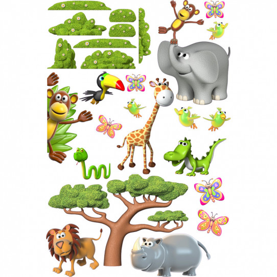 Stickers effet 3D- Kit Animaux
