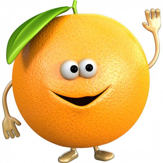 Stickers effet 3D- Orange 2